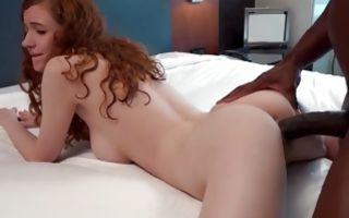 Sweet redhead ex-girlfriend has deep interracial sex
