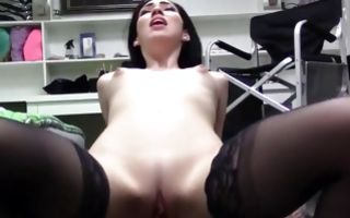 Adorable brunette GF Aria Alexander has deep painful sex
