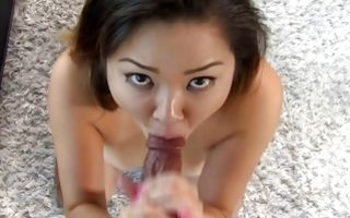 Nasty Asian girlfriend Hei has painful sex with black dude