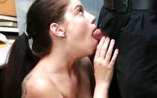 Innocent brunette chick deeply fucked in delicious cunt