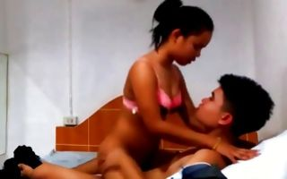Awesome teen GF has painful sex after deep blowjob